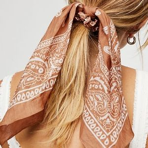 Free People Bandana Scarf Pony in Desert NWOT